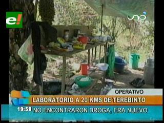 Felcn interviene una fábrica de cocaína en Terebinto
