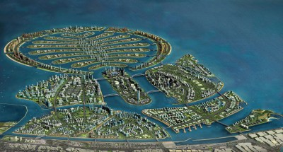 Construction Work on the New Artificial Island in Dubai Resumes