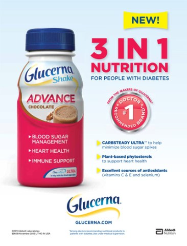 New! Glucerna® 3 IN 1 Nutrition For People With Diabetes
