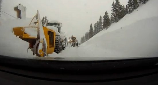 Safe Winter Trucking Donner Pass