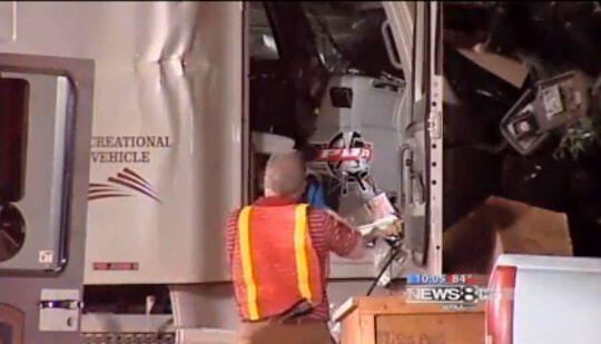 Stolen Semi Truck Wrecked Man Aprehended
