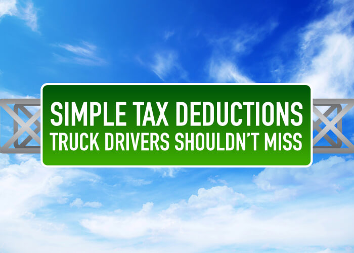 Tax Deduction List for Owner Operator Truck Drivers in 2019