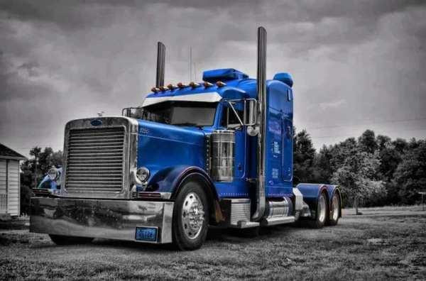 Blue Peterbilt