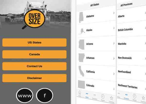 Truck Driver App: Oversize