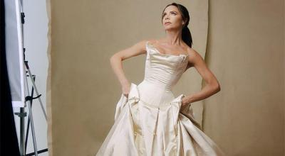 Victoria Beckham gives iconic wedding dress another outing ...