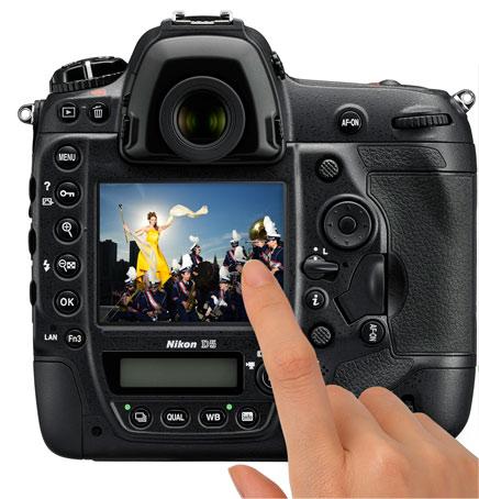 touchscreen Nikon D5