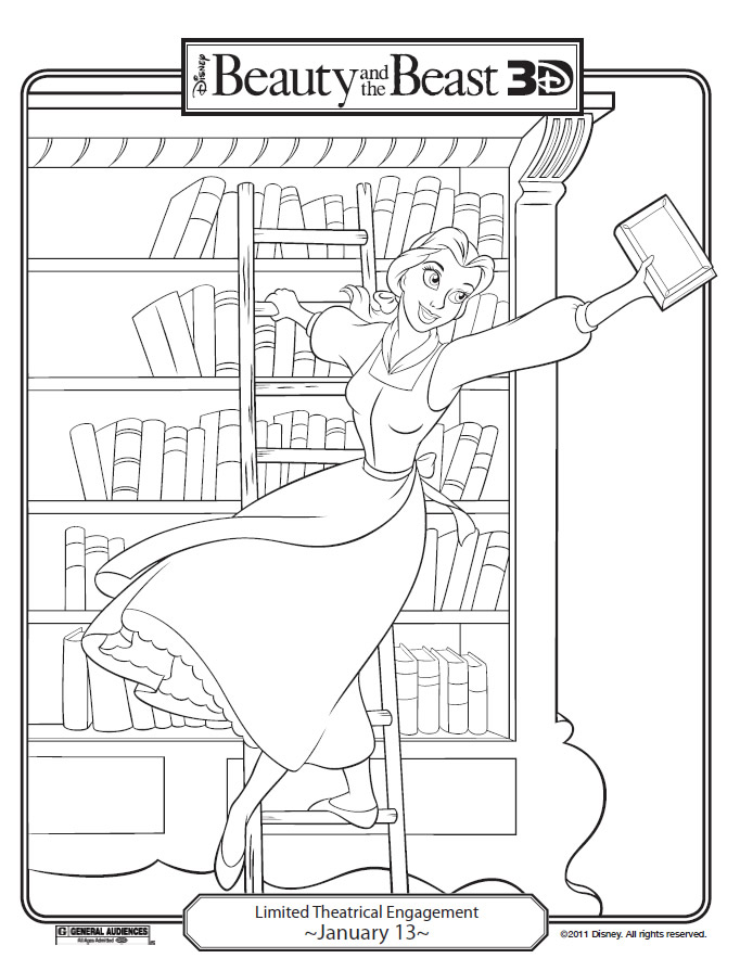 Disneys Beauty And The Beast Printables Coloring Pages