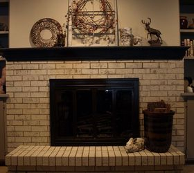 painting a brick fireplace with chalk paint concrete masonry fireplaces mantels home decor furniture the v