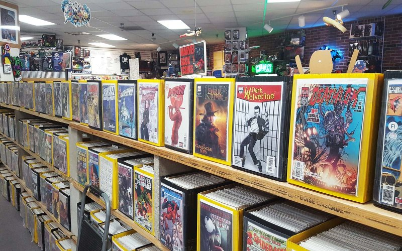 Large Of Comic Book Shelves