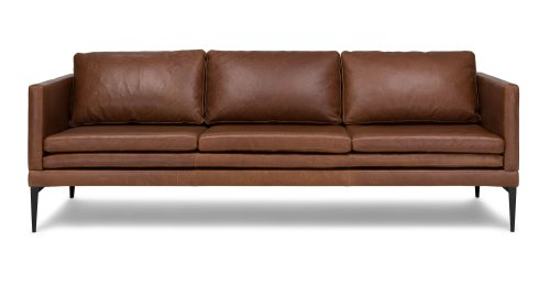 Medium Of Brown Leather Couch