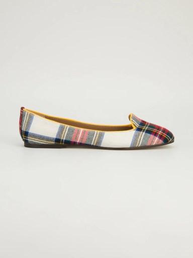 ANNA BAIGUERA tartan slip-on slipper