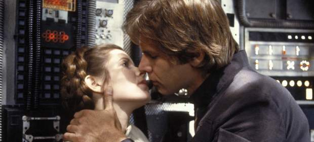 Harrison Ford y Carrie Fisher
