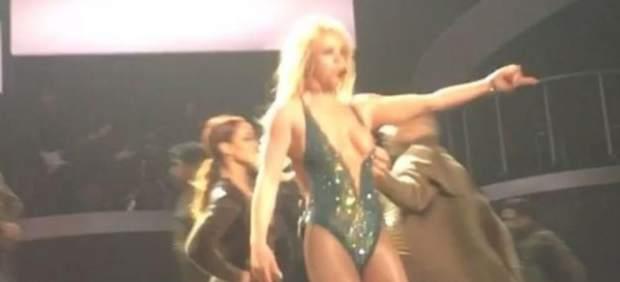Britney Spears muestra un pezón durante un concierto en Las Vegas
