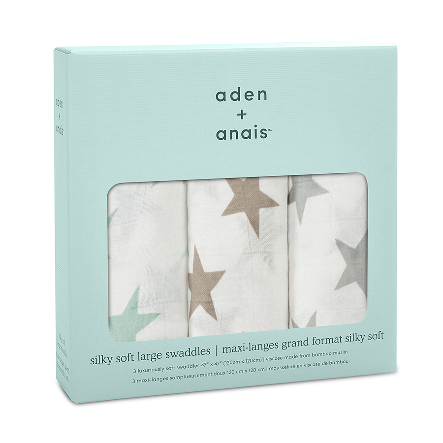 Perfect Anais Swaddle 4 Pack Aden Anais Swaddle Girl 9207 2 Swaddle Muslin Silky Soft Blue Grey Stars Aden baby Aden And Anais Swaddle