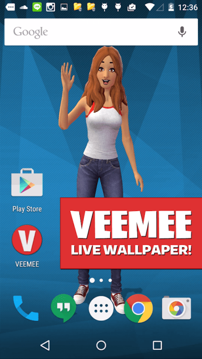 Veemee Avatar Live Wallpaper 1.0.9 APK Download - Android Personalization Apps
