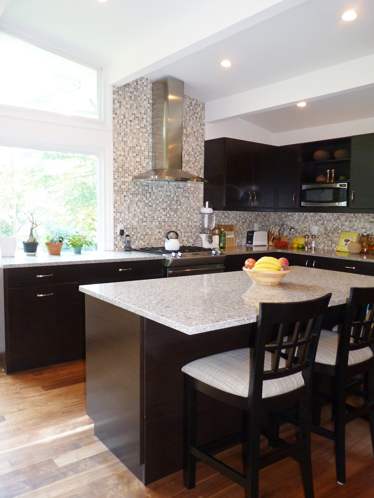 a mid century modern in nj kitchen cabinets color combination The clients wanted to keep the entire color scheme neutral yet contrasting so we chose