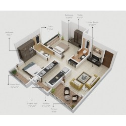 Small Crop Of One Bedroom Apartment Plan