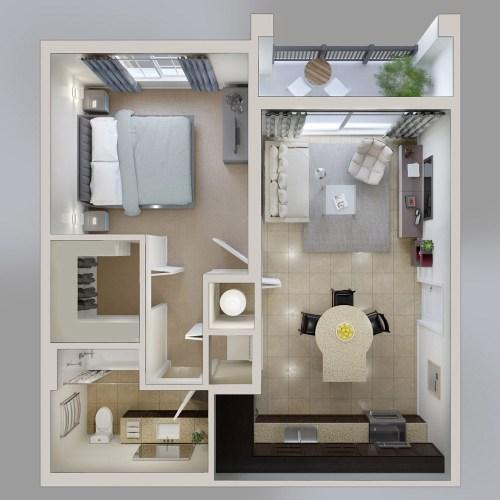 Medium Crop Of 1 Bedroom House Plans