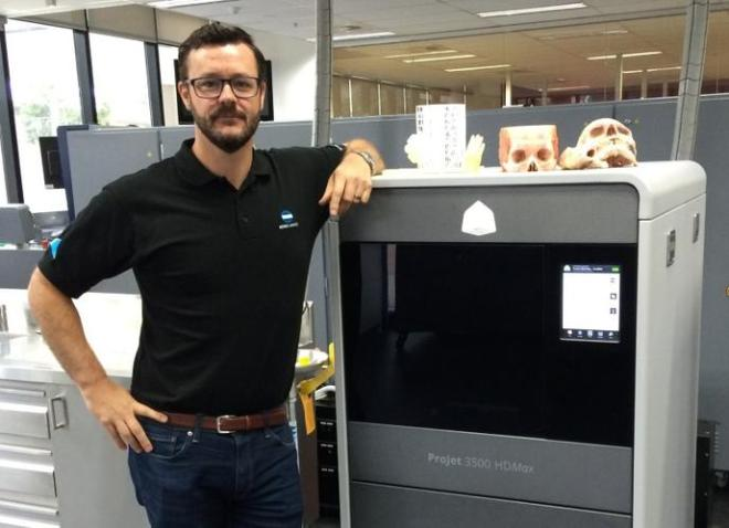 Konica Minolta national manager 3D printing, Matthew Hunter