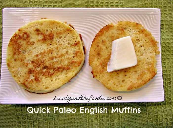 Paleo Fast English Muffin Pizzas