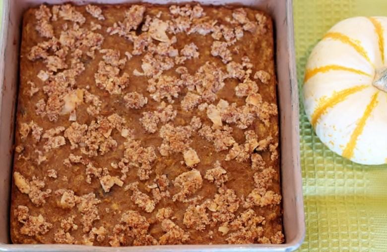 Paleo Pumpkin Crumb Cake