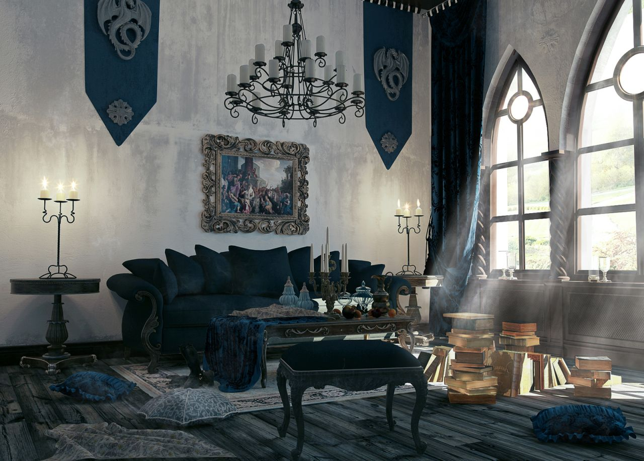 White Gothic Style Gothic Style Interior Design Ideas Gothic Interior Design Wikipedia Gothic Interior Design houzz-03 Gothic Interior Design