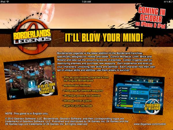 Borderlands Legends Leak iOS