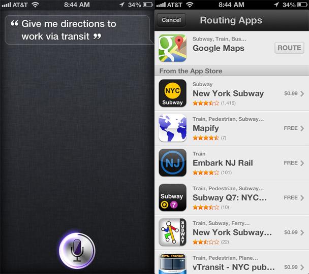 Google Maps Siri Trick