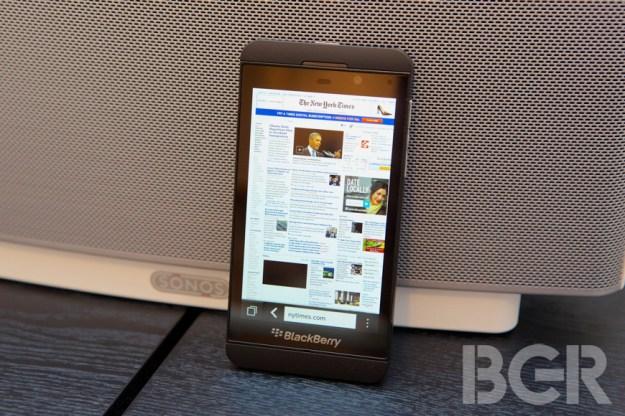 BlackBerry 10 Browser Test