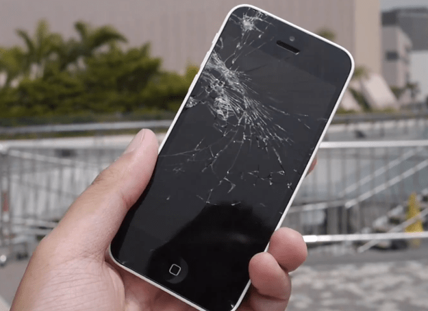 Cracked iPhone display repair offered at Apple stores