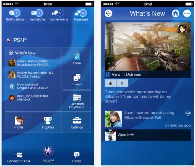 PlayStation 4 App Update