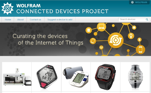 Wolfram Alpha Connected Devices Project