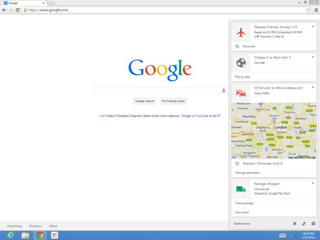 Google Now Chrome Beta Released