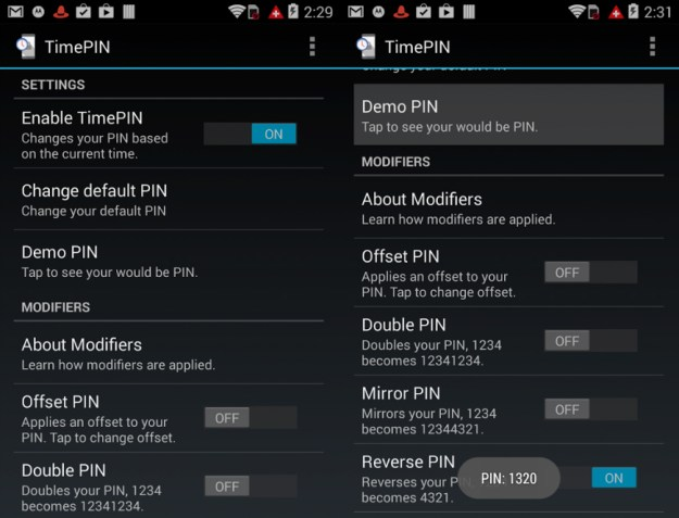 TimePIN Android App