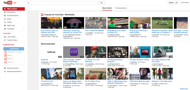 YouTube Redesign