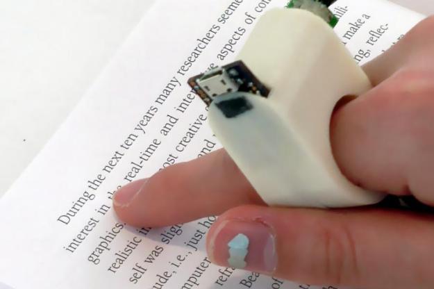 MIT FingerReader Wearable Gadget