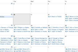 World Cup 2014: Google Calendar