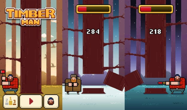 Timberman iPhone and Android Addictive Game