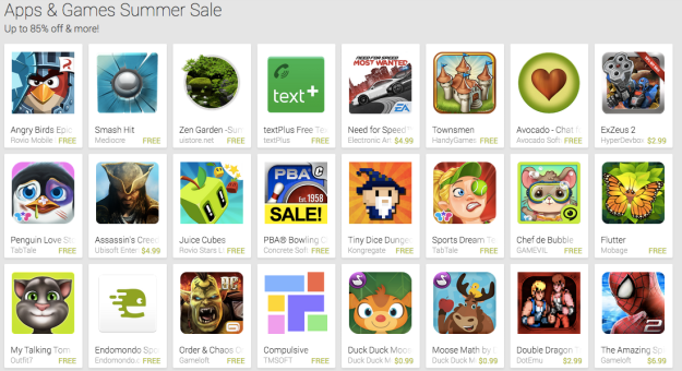 Android Summer App Sale