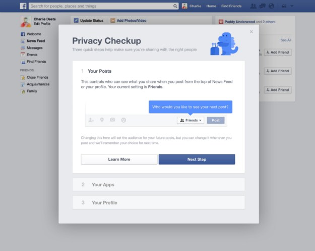 Facebook Privacy Checkup Tool