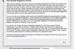 Yosemite Spotlight Search Data Collection