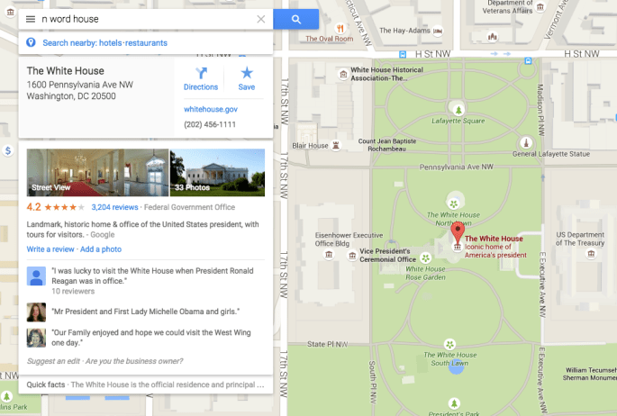 Google Maps Racist Search Results