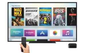 Apple TV on screen
