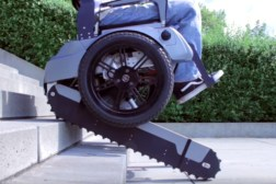 Scalevo Electric Wheelchair Climbs Stairs