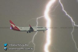 Airplane Landing Lightning Thunderstorm