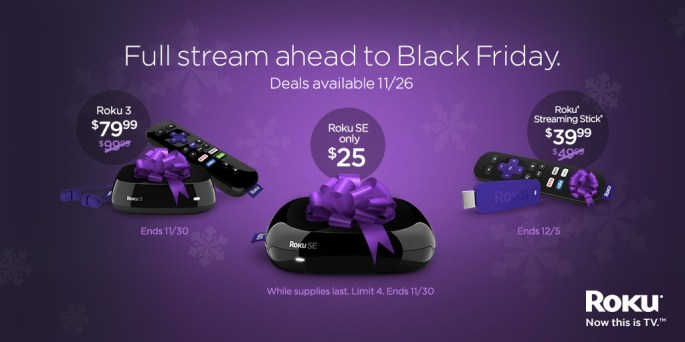 Roku Black Friday 2015 Deals