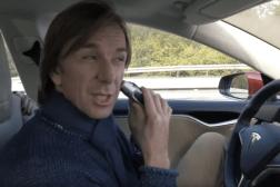 Tesla Autopilot Driver Shaves Eats Food