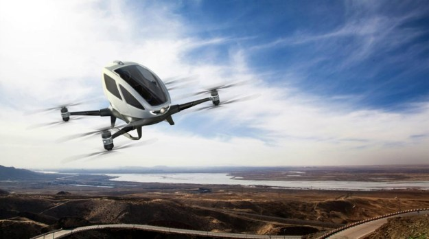 EHang 184 personal transportation drone unveiled at CES ...