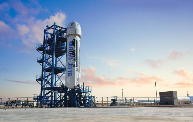 Blue Origin Rocket Landing Video