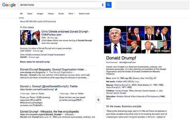 Make Trump Drumpf Chrome